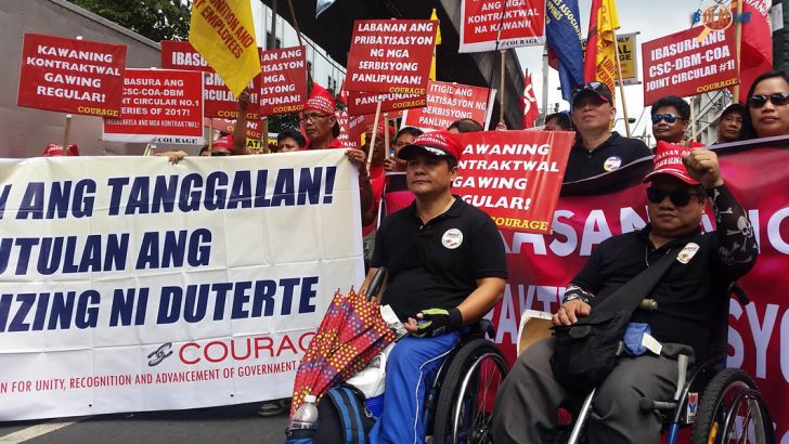 Contractual workers in the gov't push for security of tenure for non-regular employees