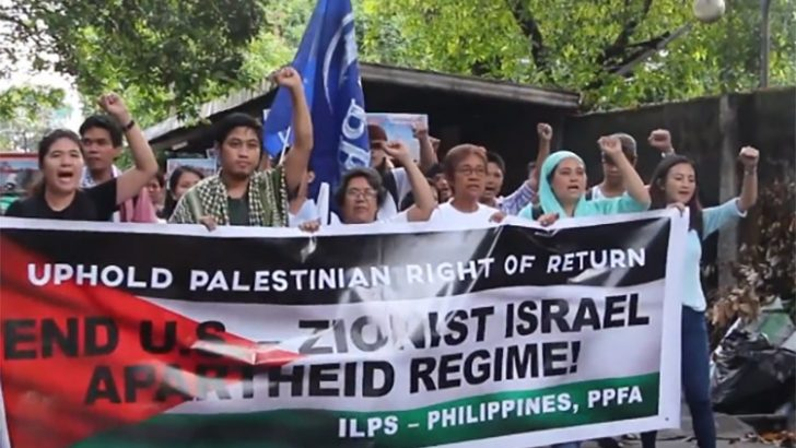 Filipino activists condemn Israel's massacre of Palestinians