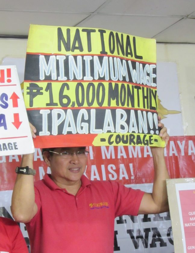 P16,000 minimum wage