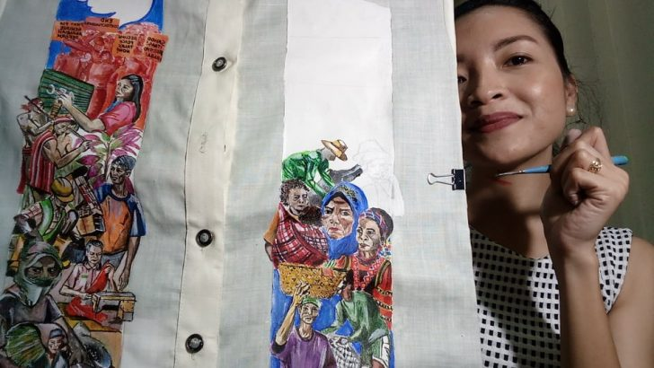 #SONA2018 | Protest art on a barong