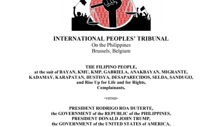 FULL TEXT: IPT Verdict vs. Duterte, Trump, and int'l monetary organizations