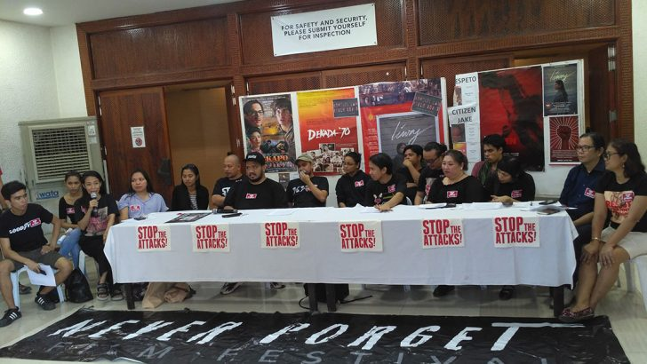 Filmmakers, artists, academe denounce military's red-baiting