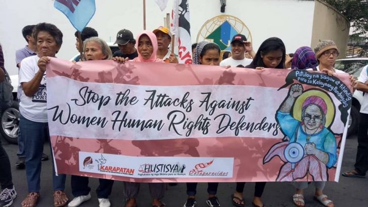 Rights group assails continuing attacks vs. women activists