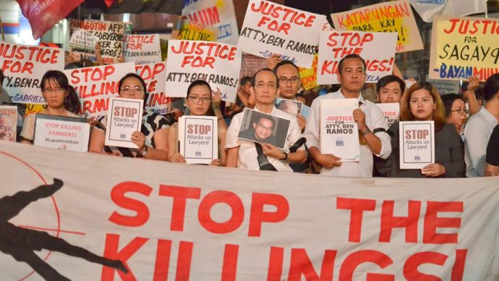 People's lawyers face false charges, Red-tagging, murder