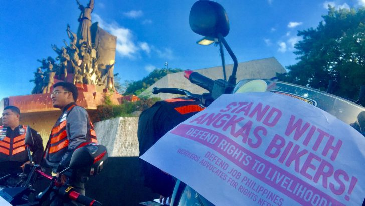 Motorcycle riders protest vs. temporary restraining order