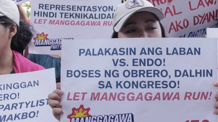 Workers to Comelec: Let Manggagawa Party-list run in 2019 polls