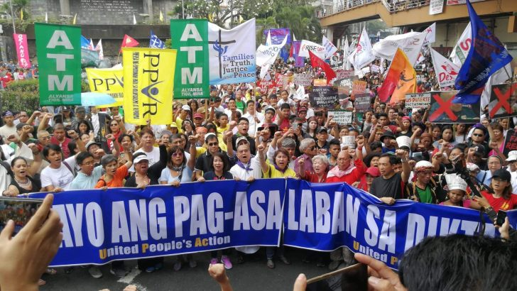 On EDSA uprising anniversary, progressives assail 'shadows of tyranny' under Duterte