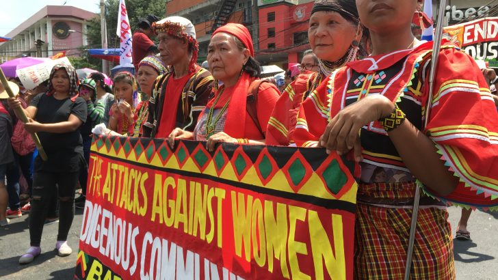 On Women's Day, Filipinos decry hunger, violence