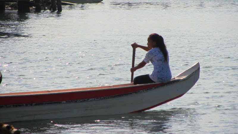 fisherwoman on banca