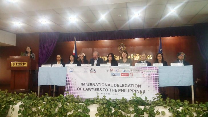 Mission finds 'patterns of state-sanctioned violence' against Filipino lawyers