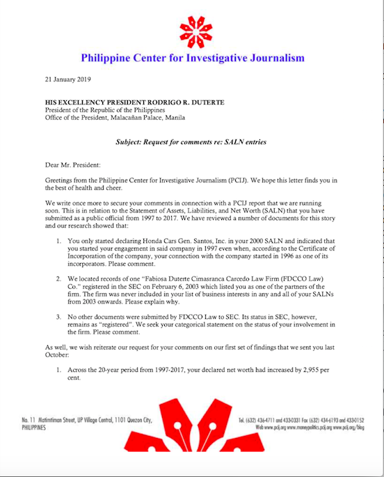 PCIJ Reports | Law firm not registered, some biz interests ...