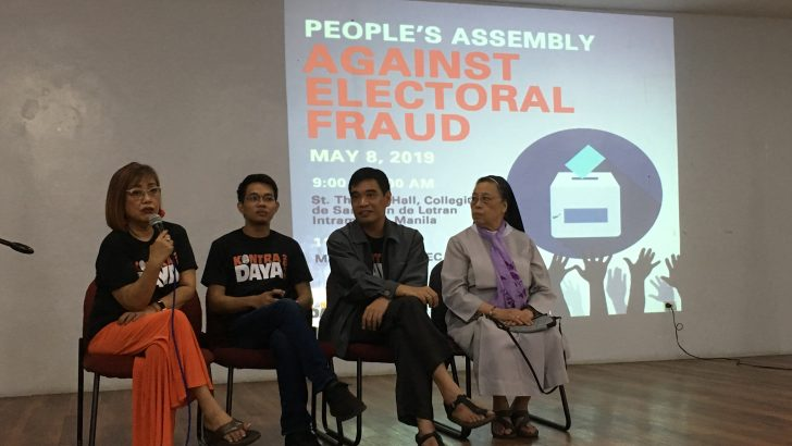 Groups stand united vs. election fraud, political repression