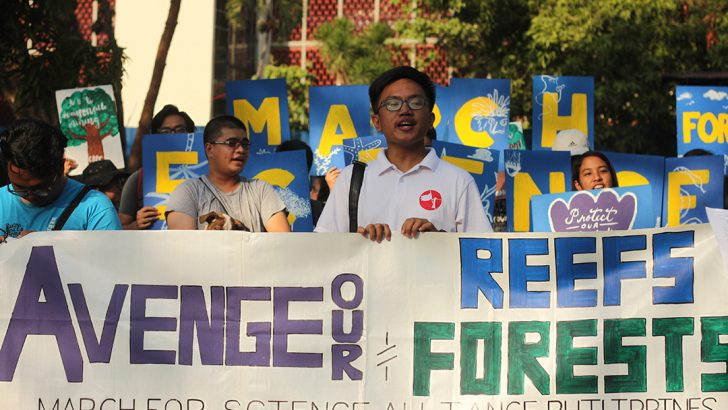 March for Science in the Philippines highlights protection of reefs, forests