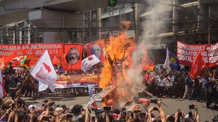 Labor Day protest blasts 'worst unemployment, tyranny under Duterte'