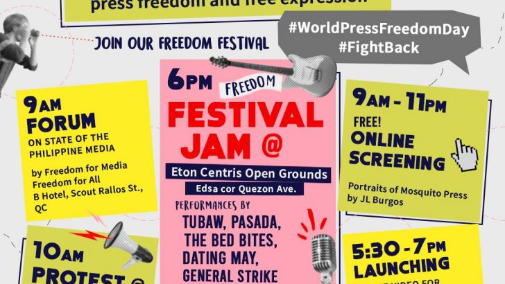 Filipino journalists, advocates commemorate #WorldPressFreedomDay