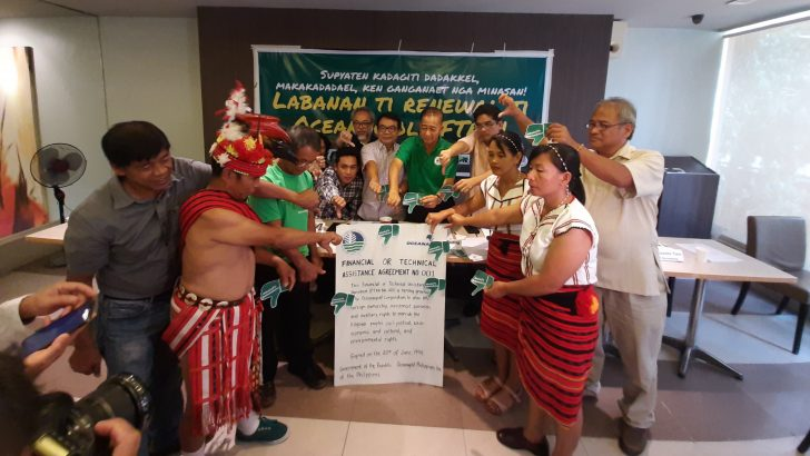 Nueva Vizcaya folk, environmental advocates urge gov't to cancel Oceanagold mining license
