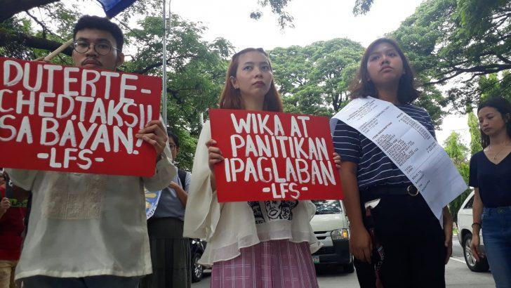 Tanggol Wika sa Pagbubukas ng Klase