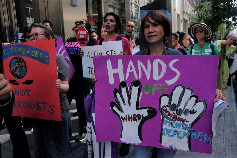 Hands off Rights Defenders