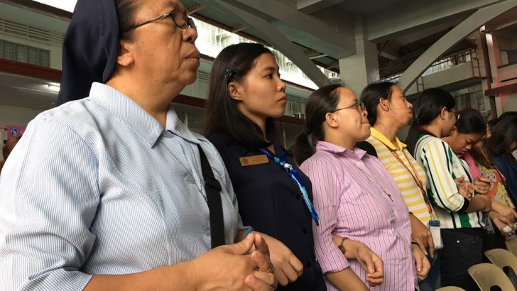 Church leaders, peace advocates link arms as they commemorate martial law