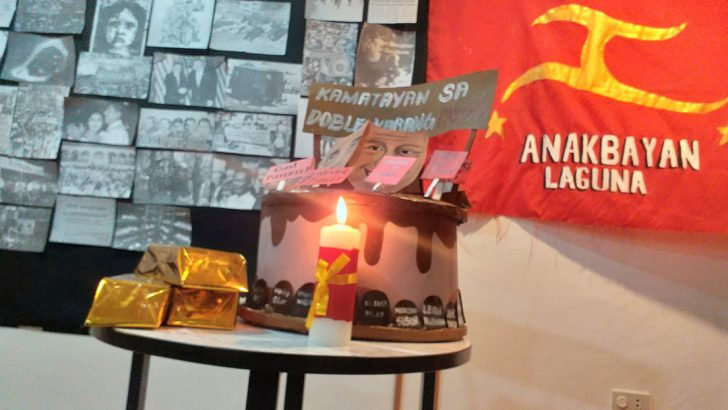 Youth group slams Marcos, Duterte with a faux 'birthday celebration'