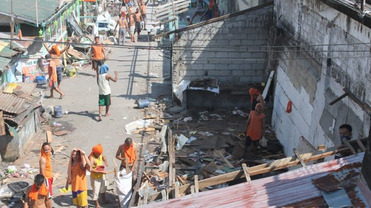 After demolition, NBP inmates have no roof over their heads