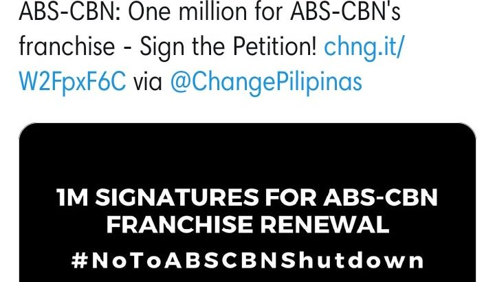 Celebrities back ABS-CBN franchise renewal