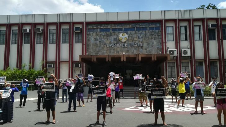 Offline protests condemn shutdown of ABS-CBN