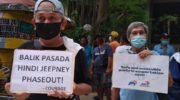 Jeepney drivers plea for aid, resumption of operations