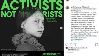 Greta Thunberg, climate activists join call to #JunkTerrorLaw