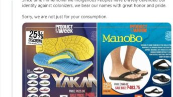 Local footwear brand called out for using tribe groups as product names