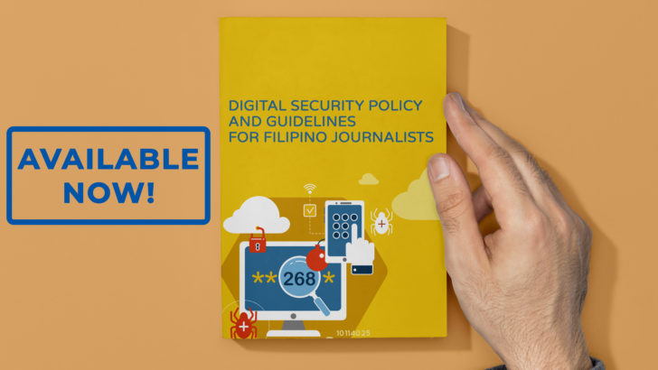 First ever Digital Security Policy and Guidelines for Filipino Journalists launched
