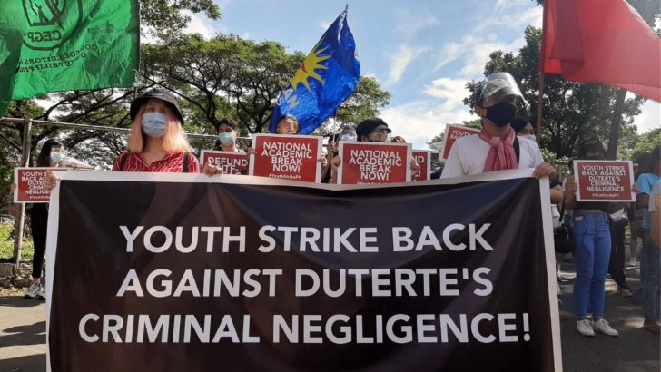 Students condemn Duterte's 'criminal negligence'
