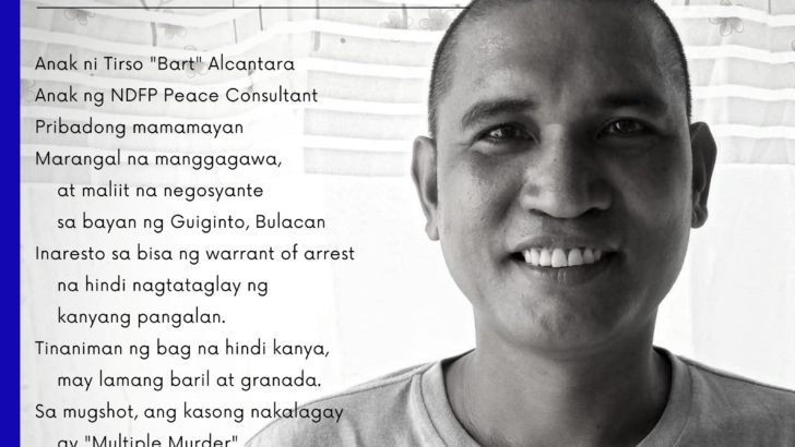 Son of peace consultant arrested in Bulacan