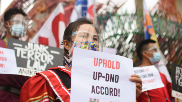Lumad students vow to defend UP, their sanctuary