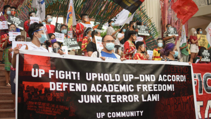 UP community unites in defending academic freedom