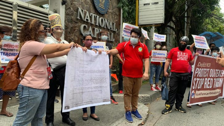 Teachers' union slams DepEd for allowing task force to red-tag members