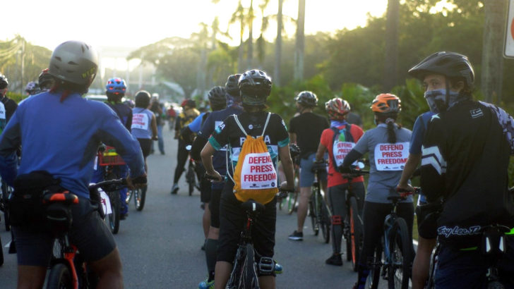 Journalists, advocates bike for detained colleagues