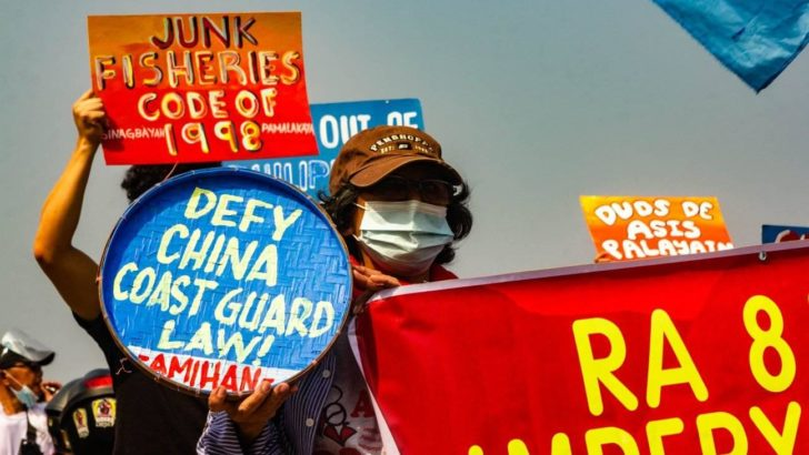 Fisherfolk slam China's coast guard law