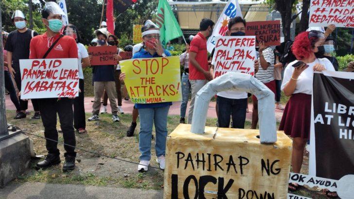 #DutertePalpak: Progressive groups protest Duterte's inefficient COVID-19 response
