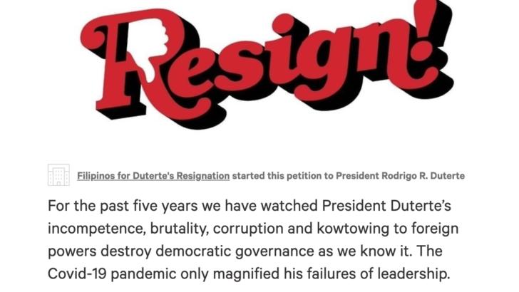 Groups call for Duterte's resignation over 'inefficient leadership'