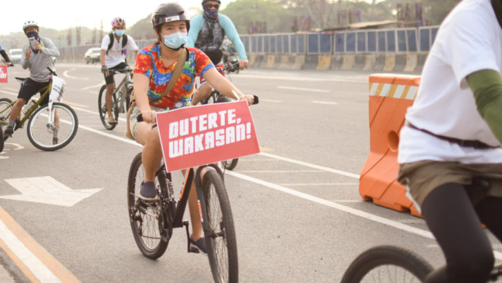 Urban poor groups bike for mass testing, financial aid amid pandemic