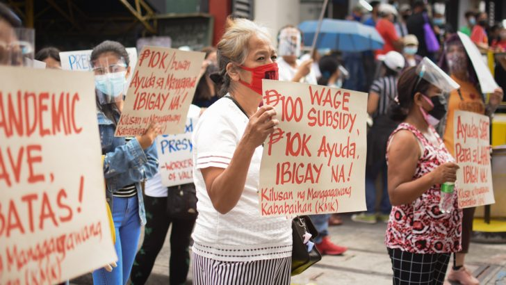 On Labor Day, workers demand urgent economic relief