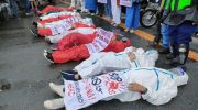Health workers hold motorcade to press for rights, welfare