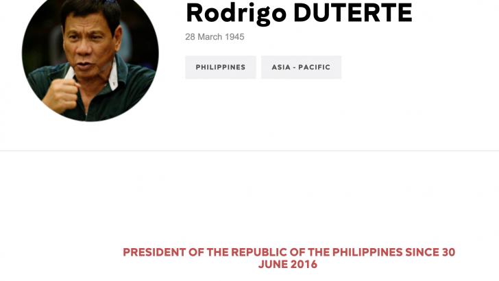 Duterte named as one of 37 press freedom predators