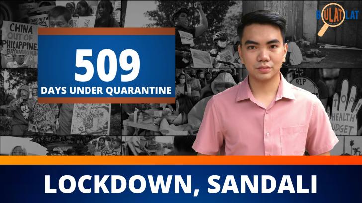 Lockdown, sandali