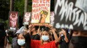 Protesters hurdle police blockades to denounce Duterte's 'Marcos-level corruption, tyranny'